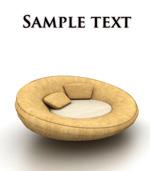 3D环形沙发