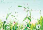 春天花草场景