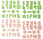 像素风格字母
