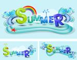 夏天主题字体
