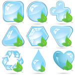 水晶环保图标