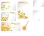 花纹花朵卡片