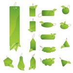 绿叶吊牌矢量