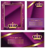 皇冠花边丝带卡片