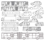 描汽车巴士矢量