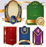 金边盾牌徽章