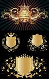 金色盾牌徽章