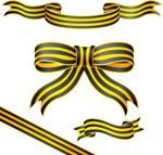 黄色横纹丝带