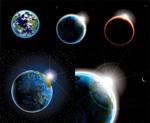 太空星球矢量
