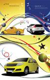 汽车与动感线条