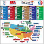 NBA队标及分布图