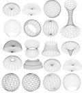 3D线框球体