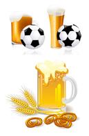 啤酒与足球矢量