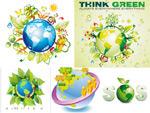 绿色地球矢量