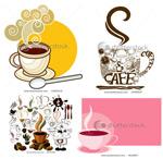 咖啡图标及背景