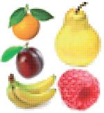 像素水果矢量