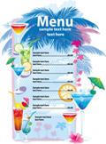 夏日饮品菜单