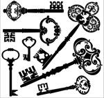欧式复古钥匙