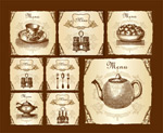 欧式古典菜单