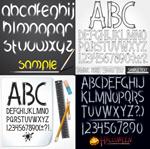 手绘英文字母