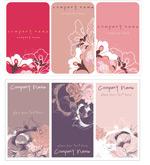 复古花卉卡片