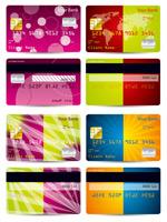 彩色信用卡矢量
