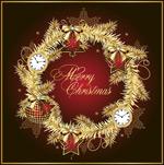 金色圣诞节矢量