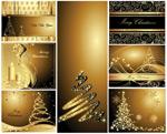 圣诞黄金明信片