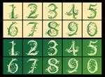 花纹阿拉伯数字