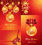 圣诞节挂球与丝带