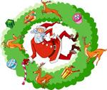 圣诞老人矢量4