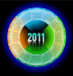 2011圆形日历