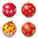 精致圣诞节彩球