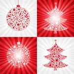 红色圣诞彩球与圣