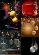 圣诞节挂球矢量