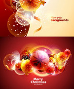 圣诞节幻彩背景3