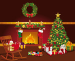 圣诞节饰品矢量