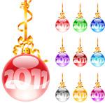 2011圣诞彩球