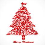 涂鸦圣诞树矢量