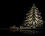 金色圣诞树