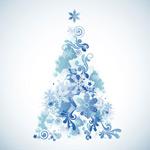 雪花圣诞树