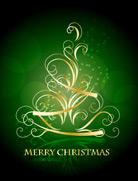 金色花纹圣诞树