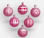 圣诞彩球矢量