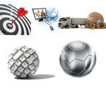 3D球足球地球