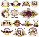 欧式盾牌标签