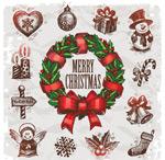 圣诞节手绘饰品