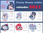 兔年可爱日历