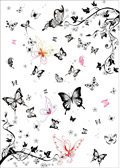 黑白蝴蝶矢量