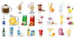 饮料饮品矢量