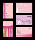 粉色卡片矢量